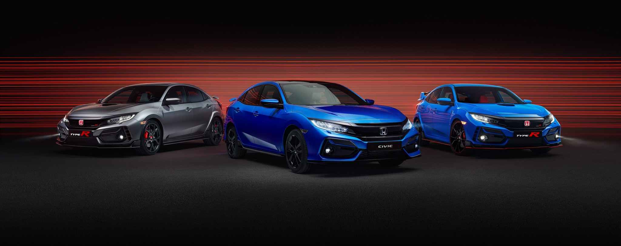 2020 Civic Type R Range - Type R Sport Line, Civic Sport Line, Type R GT