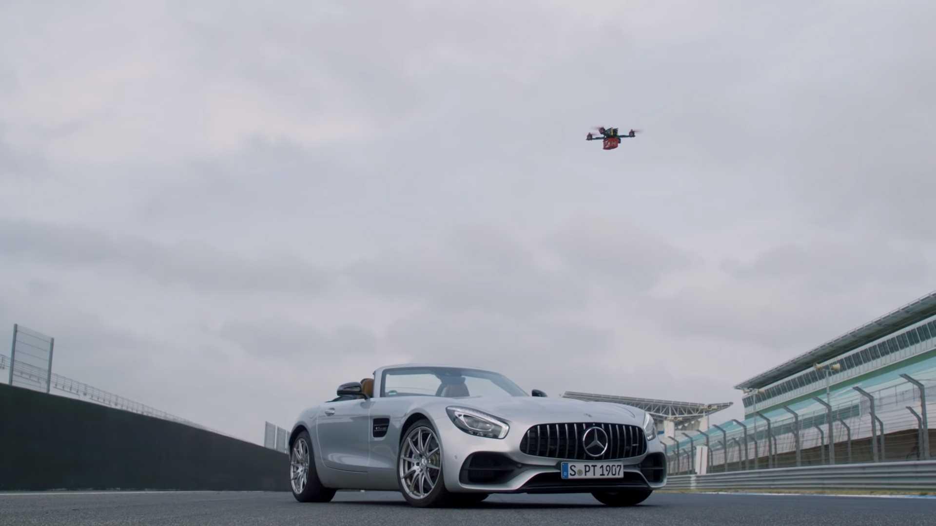 mercedes-amg-gt-vs-drone