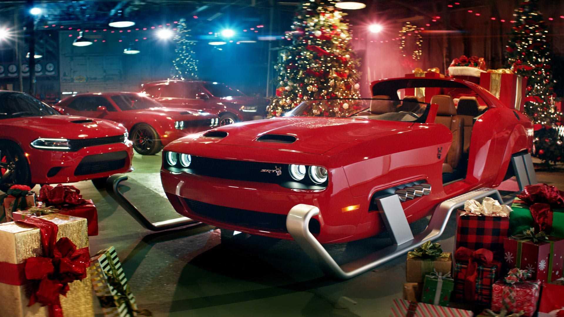 dodge-challenger-santa-sleigh