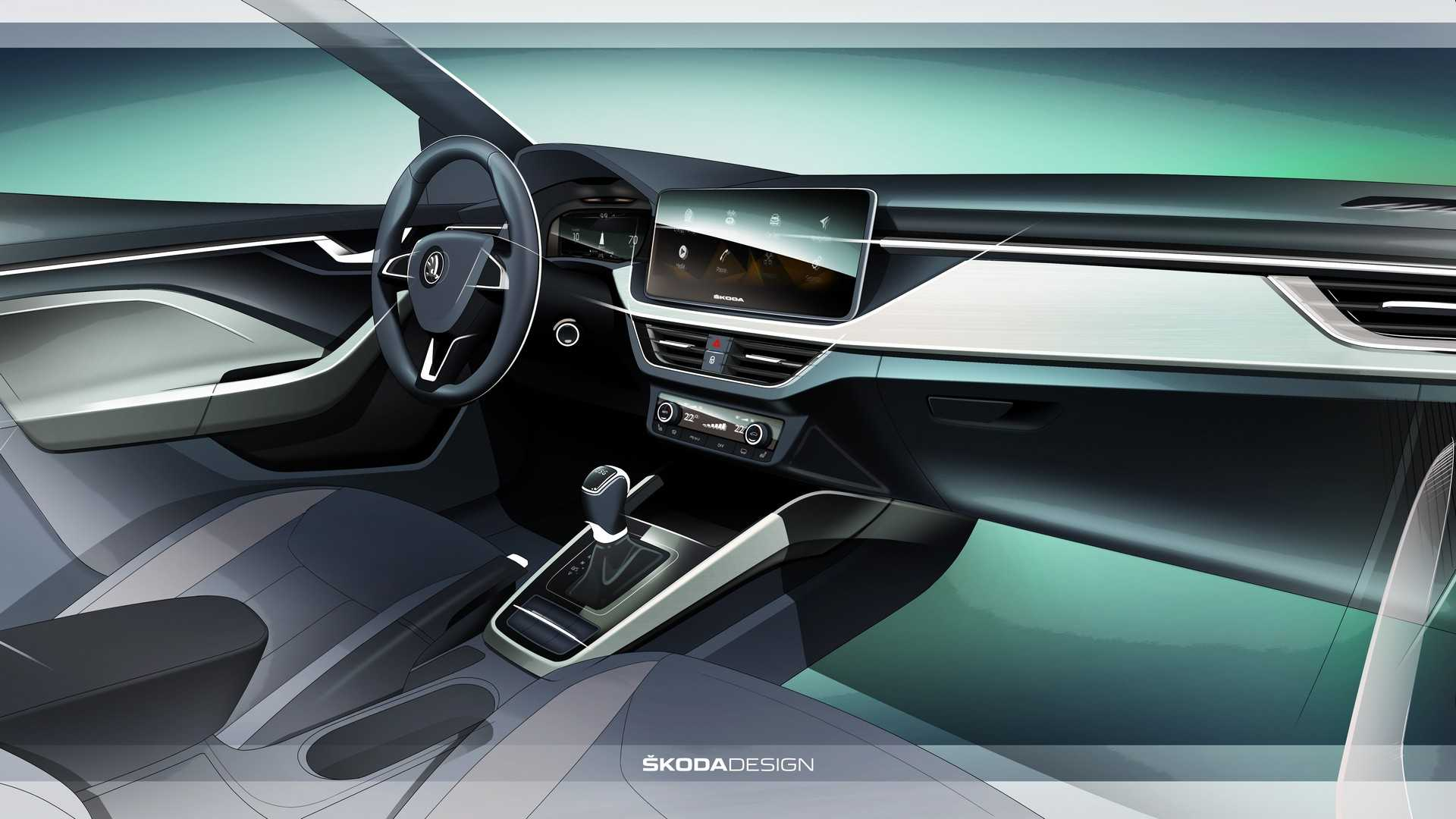 skoda-scala-interior-design-sketch