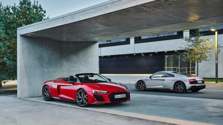 Audi x3: R8 V10 RWD & LMS GT4, plus RS Q8