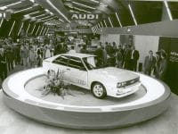 Presented at Automobilsalon in Geneva 1980: The Audi quattro